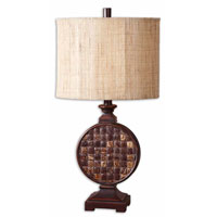 Uttermost Burundi Table Lamp in Lightly Distressed Mahogany Red 27360-1 photo thumbnail