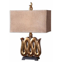 Uttermost Serpente Table Lamp in Heavily Antiqued Gold Leaf 27364-1 thumb