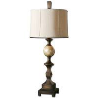 Uttermost Tusciano 1 Light Table Lamp in Hand Rubbed Dark Bronze 27390