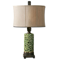 Uttermost Fiora 1 Light Table Lamp in Crackled Chartreuse Glaze 27394-1