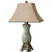Uttermost 27395 Andelle 32 inch 150 watt Distressed Crackled Light Blue Glaze Table Lamp Portable Light