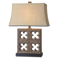 Uttermost Vettore 1 Light Table Lamp in Rustic Bronze 27405