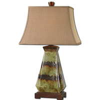 Uttermost Salvio 1 Light Table Lamp in Antiqued Green 27411 thumb