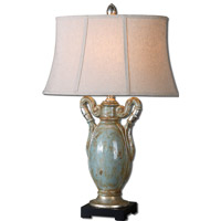 Uttermost Francavilla 1 Light Table Lamp in Antiqued Crackled Blue 27413
