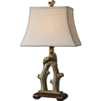 Uttermost Delena 1 Light Table Lamp in Heavily Burnished Sand Stone 27416