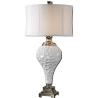 Uttermost Raymer 1 Light Table Lamp in Gloss White 27425