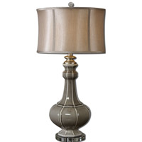 Uttermost Racimo 1 Light Table Lamp in Crackled Gray 27427-1