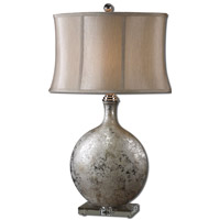 Uttermost 27428 Navelli 32 inch 100 watt Metallic Silver Table Lamp Portable Light
