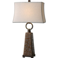 Uttermost Carsoli 1 Light Table Lamp in Chocolate Bronze Glaze 27431