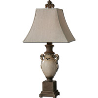 Francavilla Ivory 36 inch 150 watt Distressed Antiqued Crackled Ivory Table Lamp Portable Light