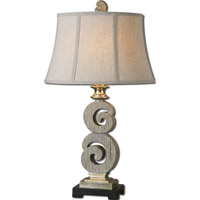 Uttermost Delshire 1 Light Table Lamp in Distressed Bleached Wood Tone 27439