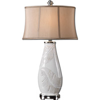 Uttermost Lorida 1 Light Table Lamp in White Glaze 27447