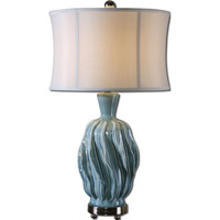Uttermost Amoroso 1 Light Table Lamp in Fade Blue 27448-1