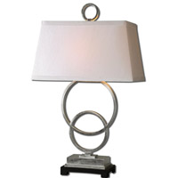 Bacelos 34 inch 150 watt Silver Leaf Table Lamp Portable Light