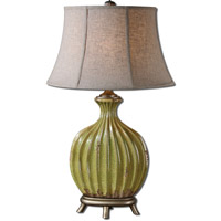 Uttermost Carentino 1 Light Table Lamp in Crackled Aged Green 27454
