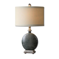 Uttermost Salinger 1 Light Table Lamp in Gray Ceramic 27470-1