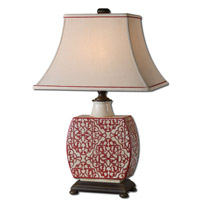 Uttermost Lindsa 1 Light Table Lamp in Antiqued Ivory 27473 photo thumbnail