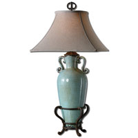 Uttermost Levanzo 1 Light Table Lamp in Crackled Aged Blue 27474 photo thumbnail