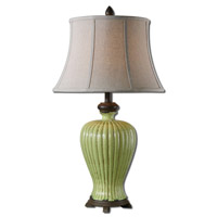 Uttermost Morbello 1 Light Table Lamp in Crackled Antique Green 27476
