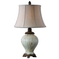 Uttermost Dernice 1 Light Table Lamp in Crackled Aged Ivory Blue 27477