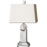 Uttermost Morano 1 Light Table Lamp in Polished Nickel 27479 thumb
