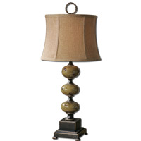 Uttermost Porano 1 Light Table Lamp in Mossy Green Glaze 27480