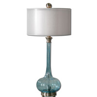 Uttermost Junelle 1 Light Table Lamp in Brushed Aluminum 27482-1