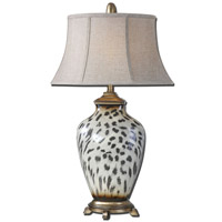 Uttermost Malawi 1 Light Table Lamp in Burnished Cheetah Print 27489