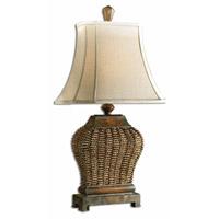 Uttermost 27502 Augustine 30 inch 100 watt Mahogany Table Lamp Portable Light