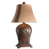 Valdemar 34 inch 150 watt Mahogany Table Lamp Portable Light