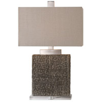 Demetrio 28 inch 150 watt Taupe with Brushed Nickel Table Lamp Portable Light