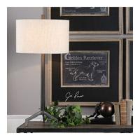 Uttermost 27557-1 Ivor 34 inch 150 watt Raw Steel Lamp Portable Light
