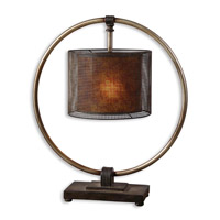 Uttermost Dalou Table Lamp in Rustic Dark Bronze 27649-1