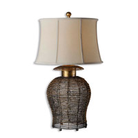 Uttermost Rickma Table Lamp in Antiqued Gold Leaf 27650