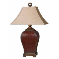Uttermost Patala Table Lamp in Heavily Crackled Deep Red 27662