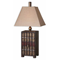 Uttermost Book Collection Table Lamp in Embossed Faux Leather 27666 photo thumbnail