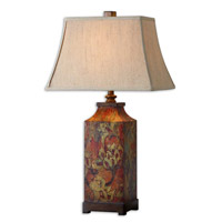 Colorful Flowers 32 inch 150 watt Colorful Flower Print Table Lamp Portable Light