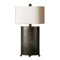 Uttermost Ruggine 1 Light Table Lamp in Rust Silver 27696-1