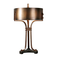 Uttermost Akron 3 Light Table Lamp in Copper 27697-1