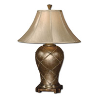 Uttermost Crisscross Table Lamp in Warm Silver 27705