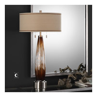 Garonne 35 inch 75 watt Amber Bronze Table Lamp Portable Light
