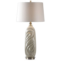Uttermost 27717-1 Griseo 33 inch 150 watt Sage Gray Glaze and Antiqued Brass Table Lamp Portable Light
