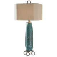 Cabella 34 inch 150 watt Aged Blue Table Lamp Portable Light