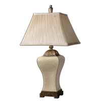 Uttermost Ivan Table Lamp in Heavily Crackled Aged Ivory Porcelain 27728