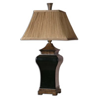 Uttermost Delmar Table Lamp in Ebony Glaze 27729