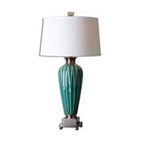 Uttermost Bethune 1 Light Table Lamp in Blue Ceramic 27744