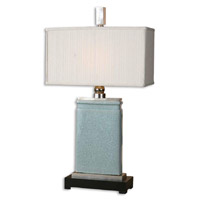 Azure 33 inch 100 watt Light Blue Crackled Porcelain Table Lamp Portable Light