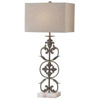Uttermost 27756-1 Gerosa 36 inch 150 watt Aged Bronze Table Lamp Portable Light