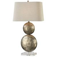Uttermost 27758 Ordona 31 inch 150 watt Antiqued Metallic Silver Table Lamp Portable Light