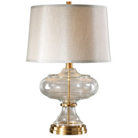 Jelani 28 inch 150 watt Brushed Brass Table Lamp Portable Light